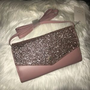 Glitter Crossbody with Detachable Strap